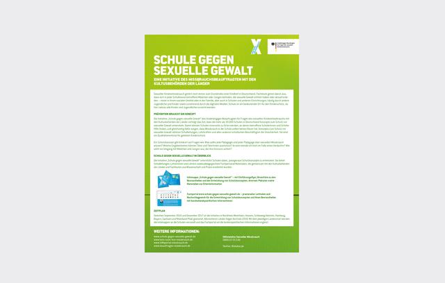 """Flyer der Kampagne """"Kein Raum für Missbrauch"""""""