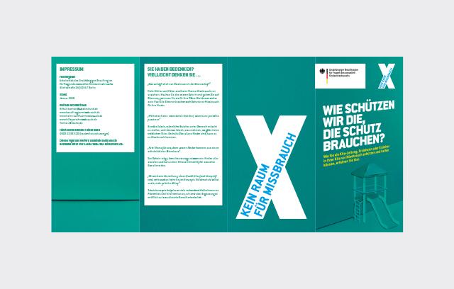 """Flyer der Kampagne """"Kein Raum für Missbrauch"""" Kitas"""