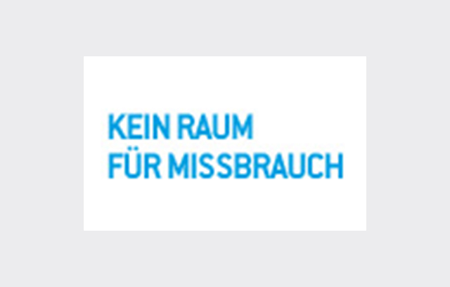 """Onlinebanner """"Kein Raum für Missbrauch"""""""
