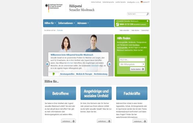 Hilfeportal Missbrauch Screenshot
