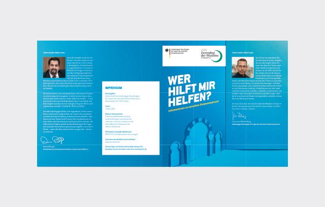 """Flyer der Kampagne """"Kein Raum für Missbrauch"""" Zentralrat der Muslime in Deutschland e. V. deutsch"""