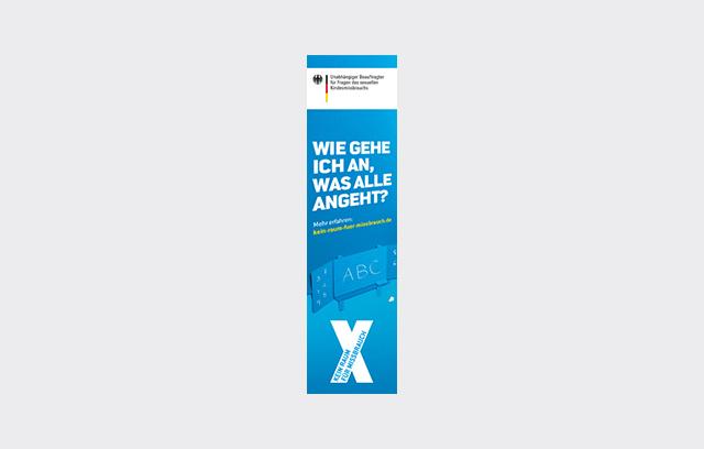 """Onlinebanner der Kampagne """"Kein Raum für Missbrauch"""" - """"Wie gehe ich an, was alle angeht?"""""""